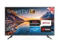 """Cello 4K Ultra HD LED Smart TV with Wi-Fi and Freeview T2 HD - 43"""""""